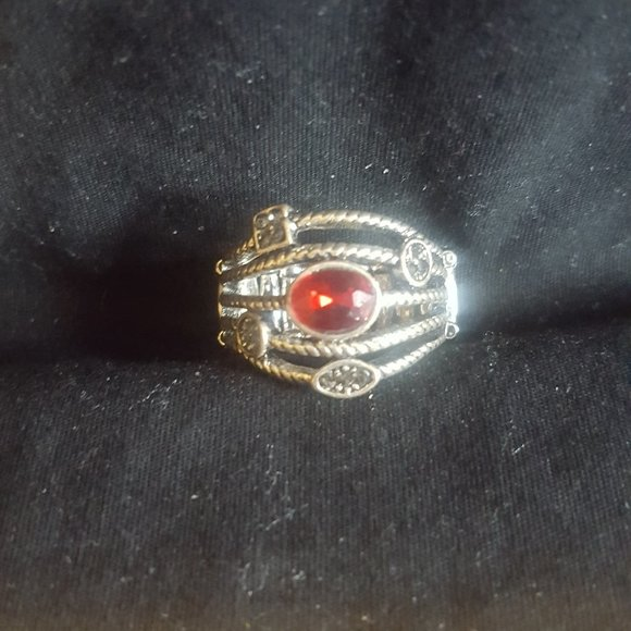 👻Paparazzi Red and Silver Ring